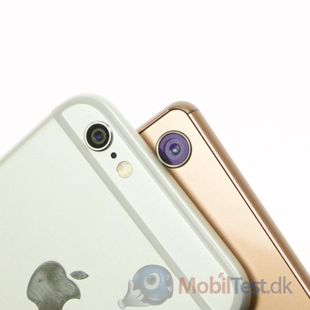 Kamera på iPhone 6 og Xperia Z3