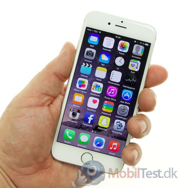 iPhone 6 passer fint i hånden