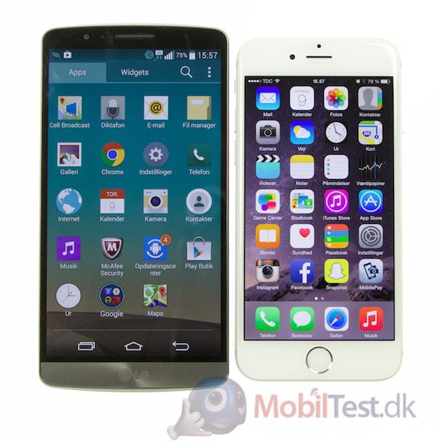 LG G3 og iPhone 6