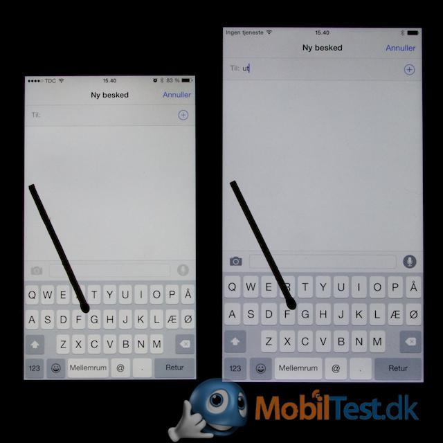 Dejlig stort tastatur på iPhone 6 plus