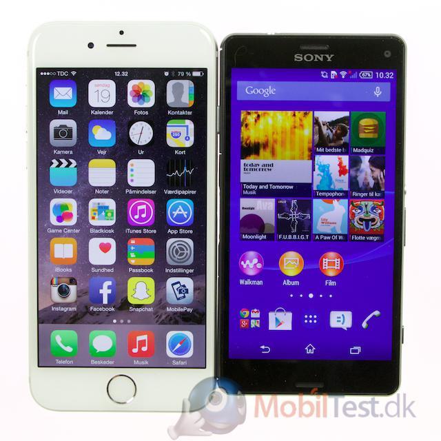 Z3 Compact er mindre en iPhone 6