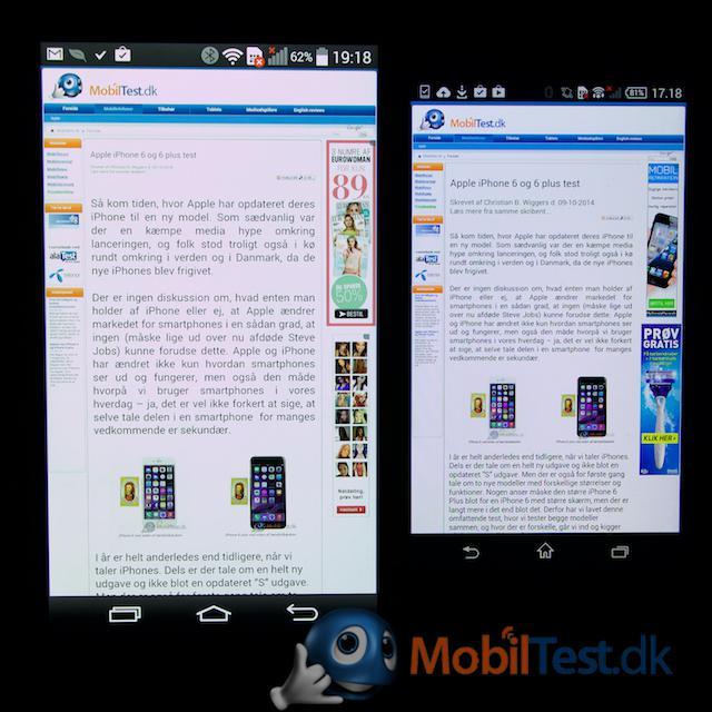 LG G3 og Z3 Compact fuld webside