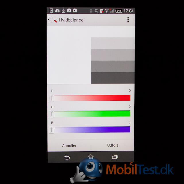 Farvetilpasning af skærm