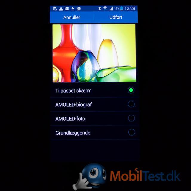 Tilpasning af farve på skærmen