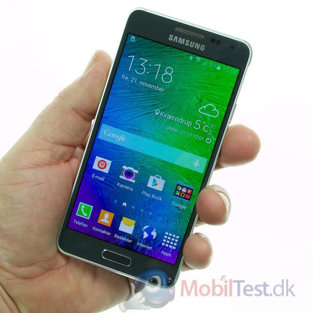 Galaxy Alpha er en ganske lækker mobil