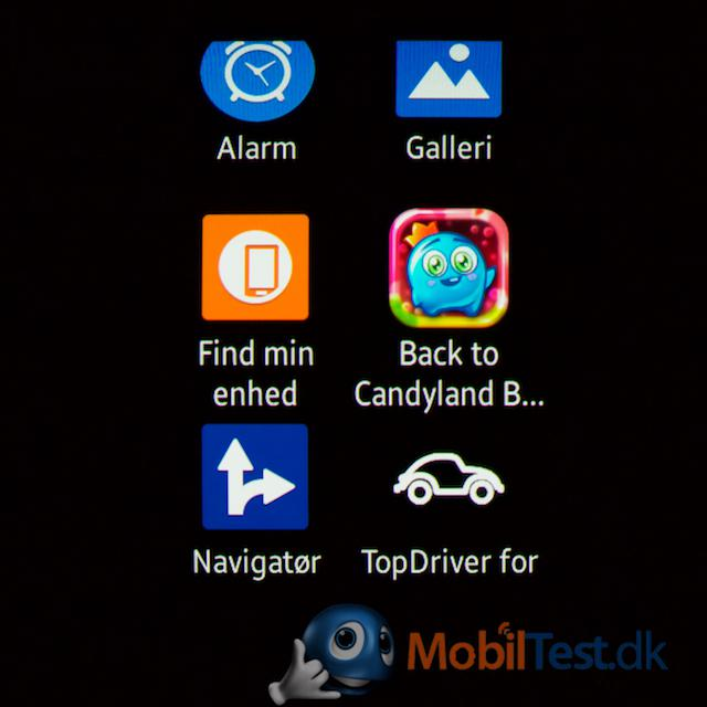 Forskellige apps fra butikken