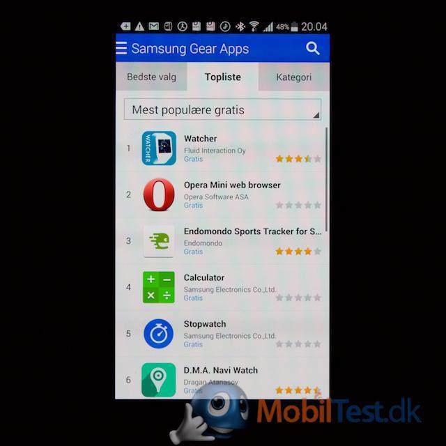 App store via Galaxy-mobil