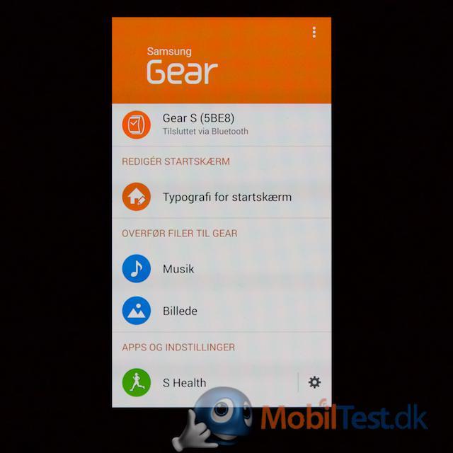 Gear app på Galaxy