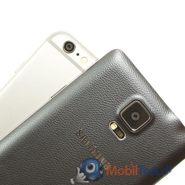 Bagsiden af Iphone 6 plus og Note 4