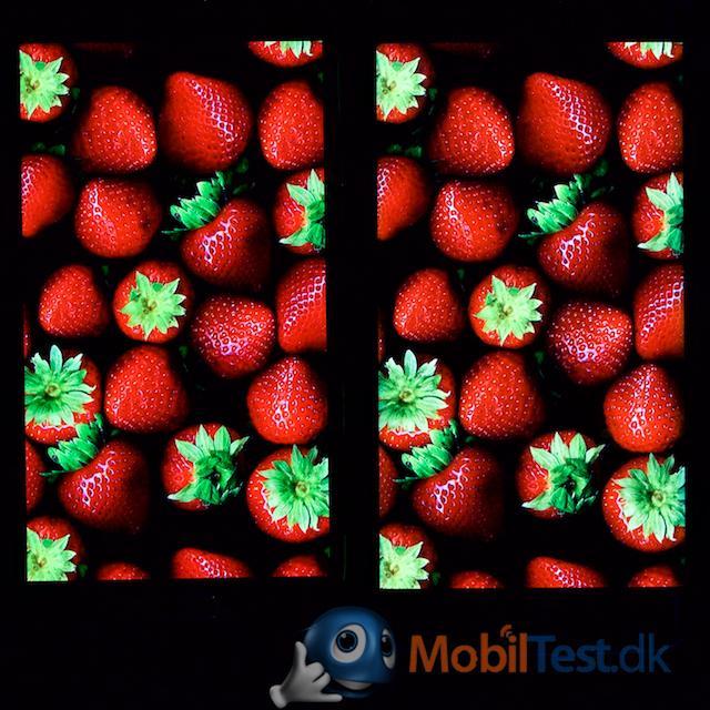 Skærmen på Galaxy S5 og S6 Edge