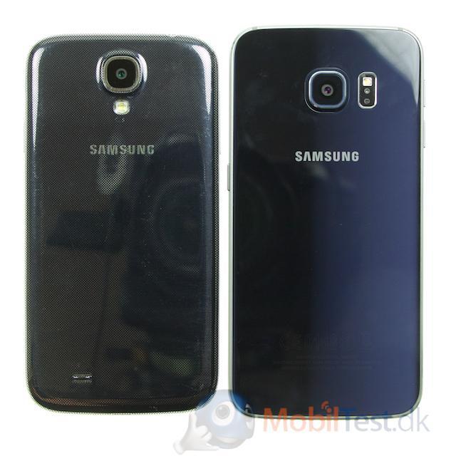 Bagsiden af Galaxy S5 og S6 Edge