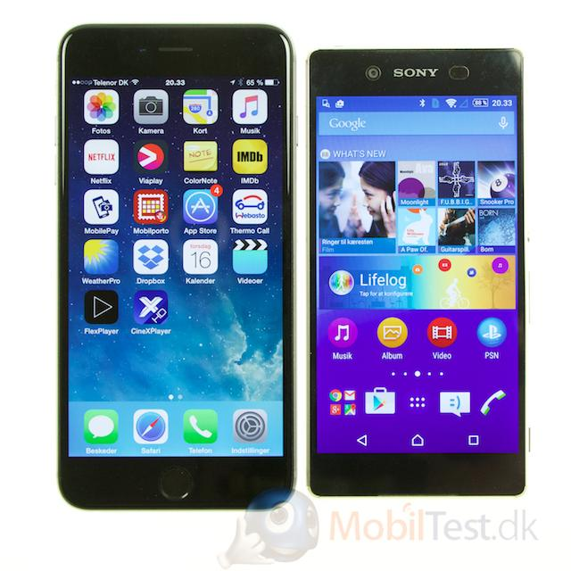 iPhone 6 plus og Xperia Z3+