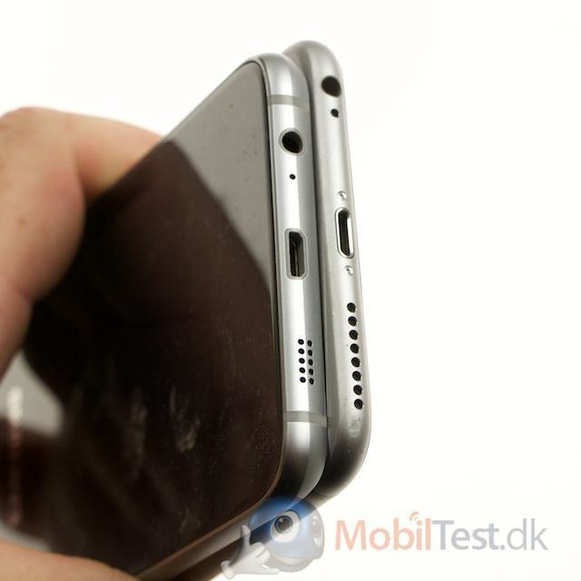 iPhone 6 plus og S6 Edge+ set fra bunden
