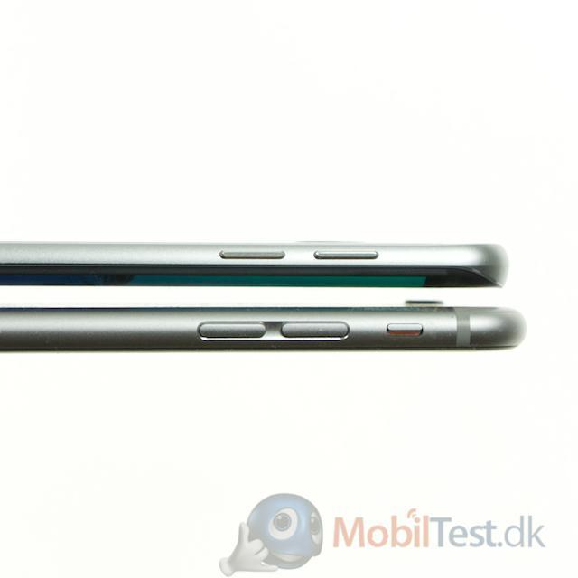 To tynder mobiler; iPhone 6 plus og S6 Edge+