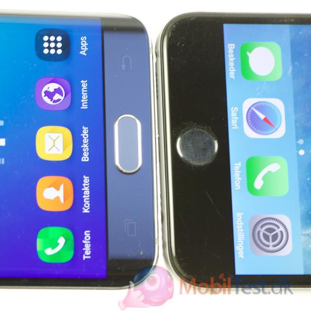 God fingeraftrykslæser på begge telefoner