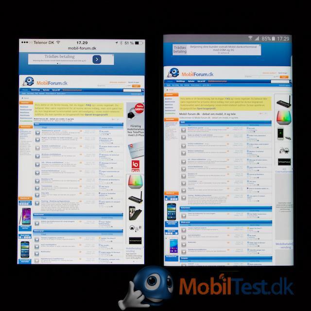 iPhone 6 plus og S6 Edge+ webbrowser