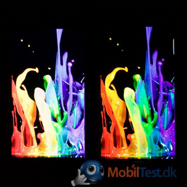 iPhone 6 plus til højre har knap så meget farve