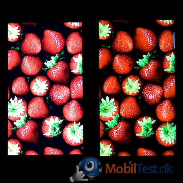 Mere rød farve på S6 Egde+ til højre
