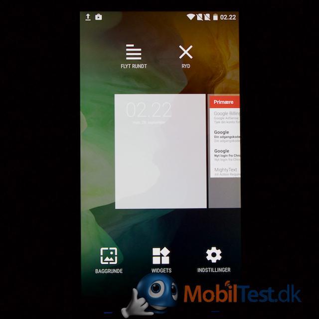 Widgets og tilpasning af homescreen