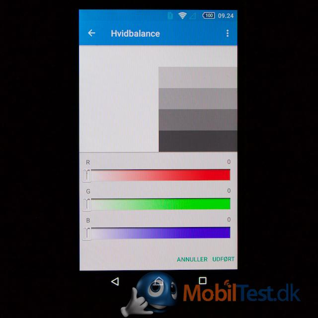 Tilpasning af farverne på skærmen
