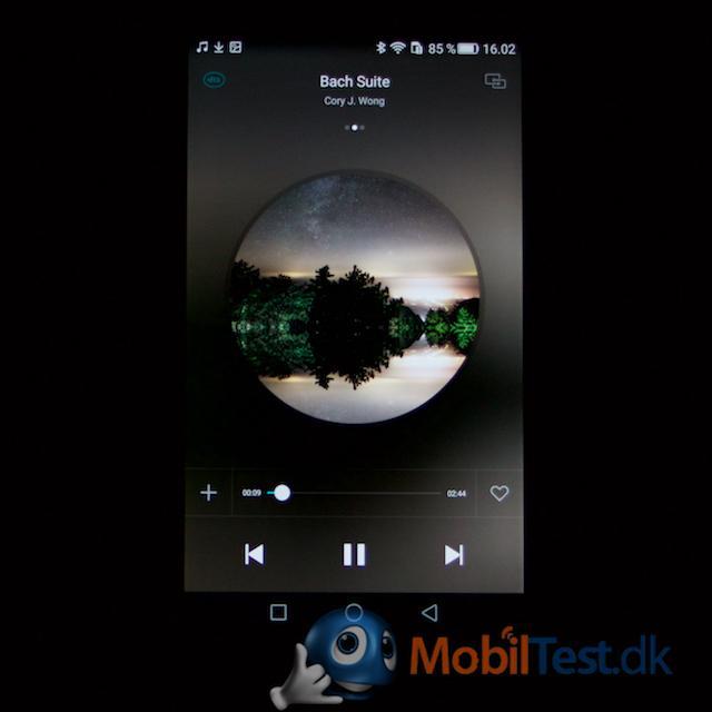 Huawei P8's musikafspiller med egen musik