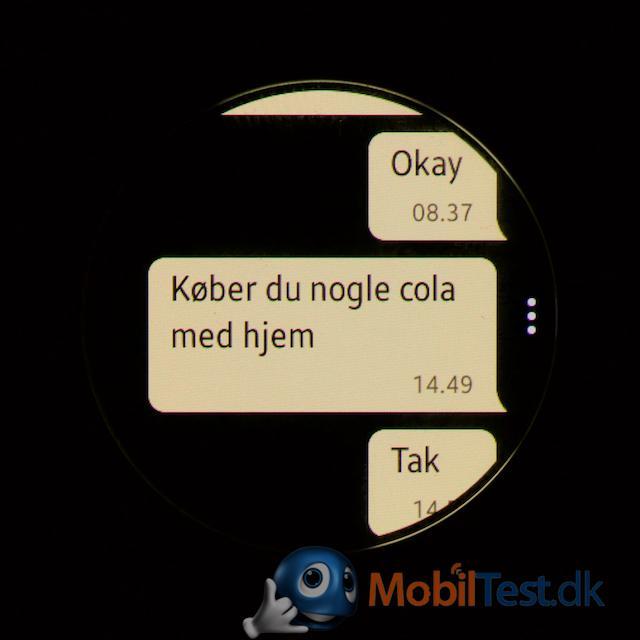 SMS-visning