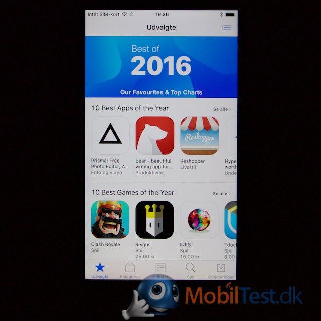 Appstore med udvalgte apps