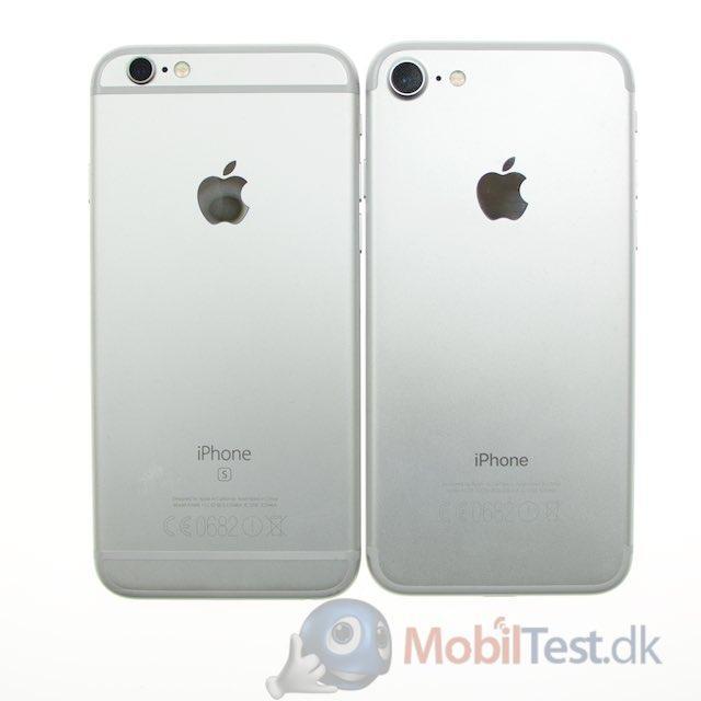 Bagsiden af iPhone 6s og iPhone 7