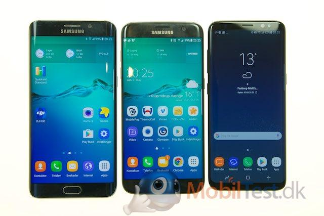 Galaxy S6 Edge+, Galaxy S7 Edge og Galaxy S8